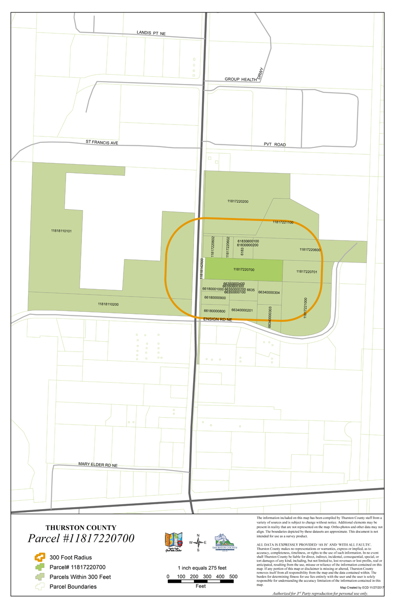 Thurston County Property Parcel