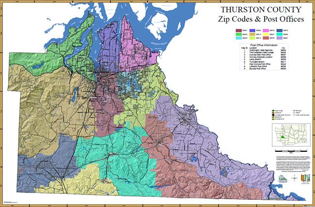 thurston county zip code map Thurston Geodata Center Printable Map Details